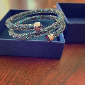 Swarovski Blue Wrap Bangle